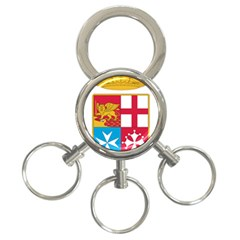 Coat Of Arms Of The Italian Navy 3 Ring Key Chains by abbeyz71