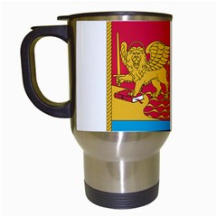 Coat Of Arms Of The Italian Navy Travel Mugs (white) by abbeyz71