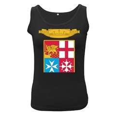 Coat Of Arms Of The Italian Navy Women s Black Tank Top by abbeyz71