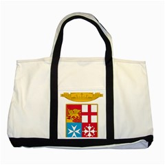 Coat Of Arms Of The Italian Navy Two Tone Tote Bag by abbeyz71