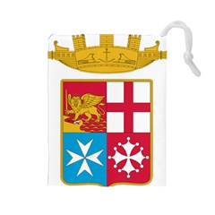 Coat Of Arms Of The Italian Navy Drawstring Pouches (large)  by abbeyz71
