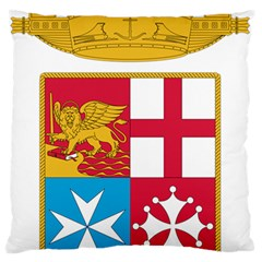 Coat Of Arms Of The Italian Navy Large Flano Cushion Case (one Side) by abbeyz71