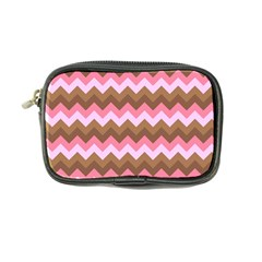 Shades Of Pink And Brown Retro Zigzag Chevron Pattern Coin Purse by Nexatart