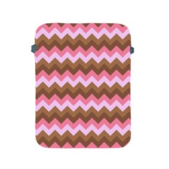 Shades Of Pink And Brown Retro Zigzag Chevron Pattern Apple Ipad 2/3/4 Protective Soft Cases by Nexatart