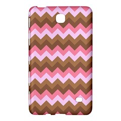 Shades Of Pink And Brown Retro Zigzag Chevron Pattern Samsung Galaxy Tab 4 (7 ) Hardshell Case  by Nexatart