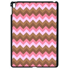 Shades Of Pink And Brown Retro Zigzag Chevron Pattern Apple Ipad Pro 9 7   Black Seamless Case by Nexatart