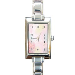 Watercolor Floral Rectangle Italian Charm Watch
