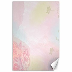 Watercolor Floral Canvas 24  X 36  by Nexatart