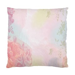 Watercolor Floral Standard Cushion Case (two Sides) by Nexatart