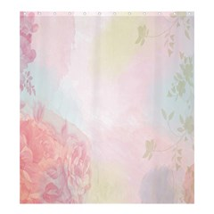 Watercolor Floral Shower Curtain 66  X 72  (large)  by Nexatart