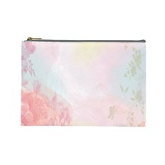 Watercolor Floral Cosmetic Bag (large)