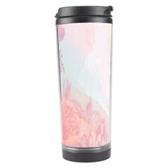 Watercolor Floral Travel Tumbler by Nexatart