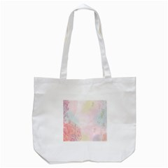 Watercolor Floral Tote Bag (white) by Nexatart
