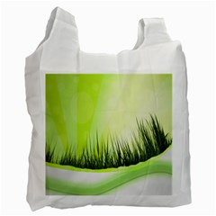 Green Background Wallpaper Texture Recycle Bag (one Side)