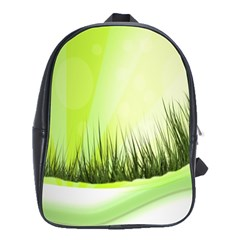 Green Background Wallpaper Texture School Bags(large)  by Nexatart