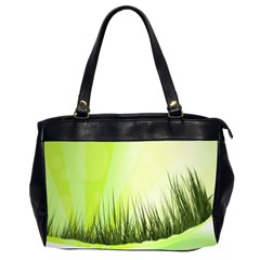 Green Background Wallpaper Texture Office Handbags (2 Sides)  by Nexatart