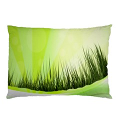 Green Background Wallpaper Texture Pillow Case (two Sides) by Nexatart