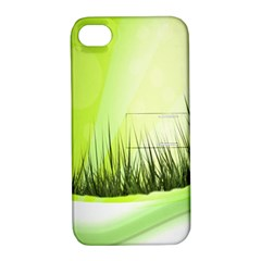 Green Background Wallpaper Texture Apple Iphone 4/4s Hardshell Case With Stand by Nexatart