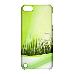 Green Background Wallpaper Texture Apple Ipod Touch 5 Hardshell Case With Stand