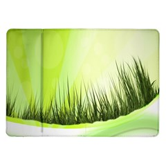 Green Background Wallpaper Texture Samsung Galaxy Tab 10 1  P7500 Flip Case by Nexatart