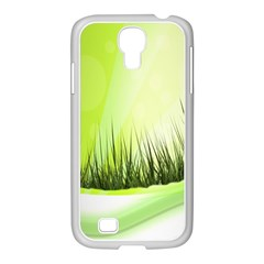 Green Background Wallpaper Texture Samsung Galaxy S4 I9500/ I9505 Case (white)
