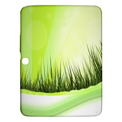 Green Background Wallpaper Texture Samsung Galaxy Tab 3 (10 1 ) P5200 Hardshell Case  by Nexatart