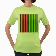 Vertical Blinds A Completely Seamless Tile Able Background Women s Green T Shirt