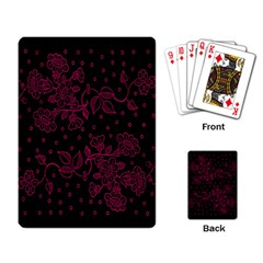 Pink Floral Pattern Background Playing Card by Nexatart