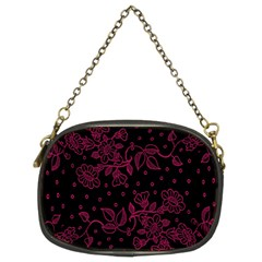 Pink Floral Pattern Background Chain Purses (two Sides)  by Nexatart