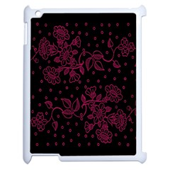 Pink Floral Pattern Background Apple Ipad 2 Case (white)