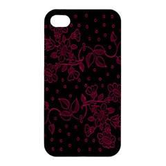 Pink Floral Pattern Background Apple Iphone 4/4s Hardshell Case by Nexatart