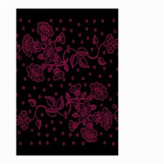 Pink Floral Pattern Background Small Garden Flag (two Sides) by Nexatart