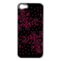 Pink Floral Pattern Background Apple Iphone 5 Case (silver)