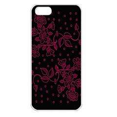 Pink Floral Pattern Background Apple Iphone 5 Seamless Case (white) by Nexatart