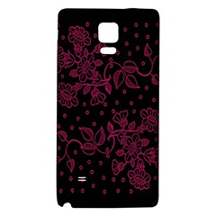 Pink Floral Pattern Background Galaxy Note 4 Back Case by Nexatart