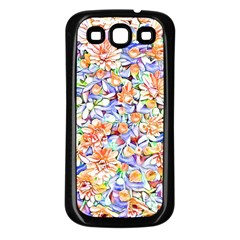 Lovely Floral 31d Samsung Galaxy S3 Back Case (black) by MoreColorsinLife
