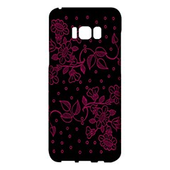Pink Floral Pattern Background Samsung Galaxy S8 Plus Hardshell Case