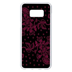 Pink Floral Pattern Background Samsung Galaxy S8 Plus White Seamless Case by Nexatart