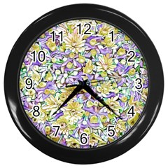 Lovely Floral 31e Wall Clocks (black)