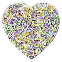 Lovely Floral 31e Jigsaw Puzzle (heart) by MoreColorsinLife