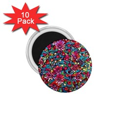 Lovely Floral 31a 1 75  Magnets (10 Pack)  by MoreColorsinLife