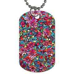 Lovely Floral 31a Dog Tag (two Sides) by MoreColorsinLife