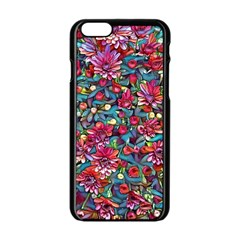 Lovely Floral 31a Apple Iphone 6/6s Black Enamel Case by MoreColorsinLife