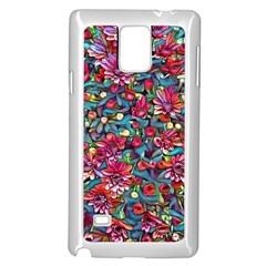 Lovely Floral 31a Samsung Galaxy Note 4 Case (white) by MoreColorsinLife