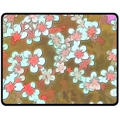 Lovely Floral 29 A Fleece Blanket (medium)  by MoreColorsinLife