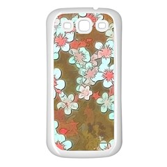 Lovely Floral 29 A Samsung Galaxy S3 Back Case (white) by MoreColorsinLife
