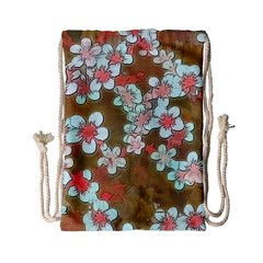Lovely Floral 29 A Drawstring Bag (small) by MoreColorsinLife