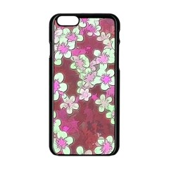 Lovely Floral 29 B Apple Iphone 6/6s Black Enamel Case by MoreColorsinLife