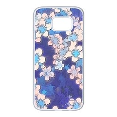 Lovely Floral 29 C Samsung Galaxy S7 Edge White Seamless Case by MoreColorsinLife