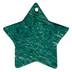 Thick Wet Paint B Star Ornament (two Sides) by MoreColorsinLife